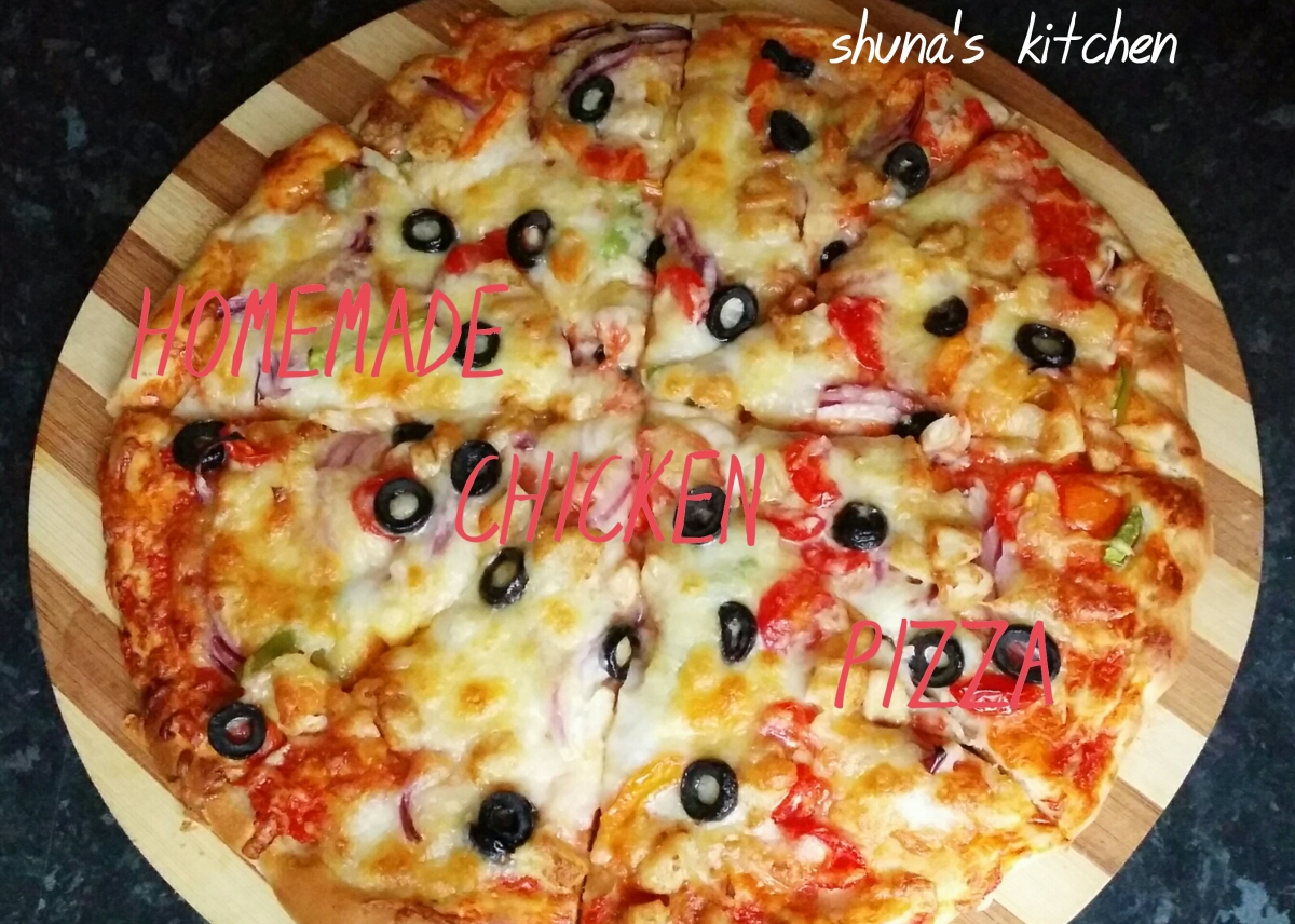 HOMMADE CHICKEN PIZZA